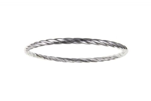 Sterling Silver Twisted Patterned Slave Bangle